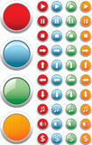 Media buttons Stock Images