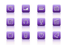 Media buttons Royalty Free Stock Photo