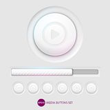 Media buttons. This is file of EPS10 format Royalty Free Illustration