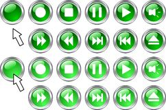 Media buttons. Royalty Free Stock Photo