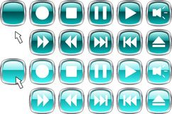 Media buttons. Royalty Free Stock Images