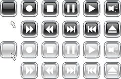 Media buttons. Royalty Free Stock Photography