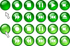 Media buttons. Royalty Free Stock Photos