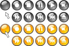 Media buttons. Stock Photography