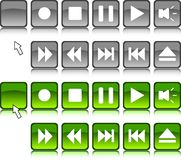 Media buttons. Stock Image