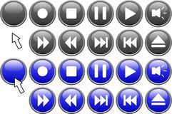 Media buttons. Stock Photos