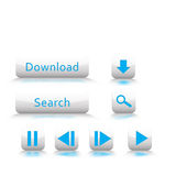 Media Buttons for Design. Media buttons for web design, app, controls, widgets Royalty Free Illustration