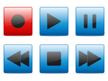 Media buttons set. Vector illustration Royalty Free Stock Images