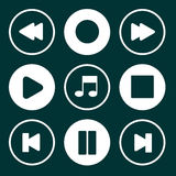Media Buttons Set Royalty Free Stock Photography