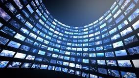 Media caña video animada 4K de la pared stock de ilustración