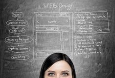 Media cara del diseño web fotografía de archivo libre de regalías