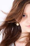 Media cara una mujer joven Imágenes de archivo libres de regalías