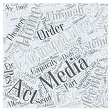Media Center Driven Home Theaters word cloud concept word cloud concept vector background Royalty Free Stock Images