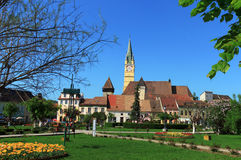 Media cidade, Romania Imagem de Stock
