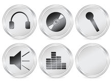 Media circle icon 3 Royalty Free Stock Photography