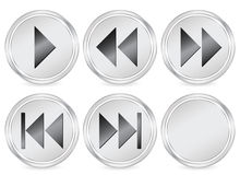 Media circle icon Stock Photo