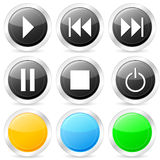 Media circle icon set Royalty Free Stock Photography