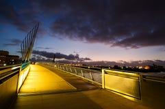Media city footbridge Stock Photo