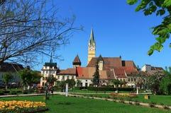 Media ciudad, Rumania Imagen de archivo