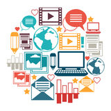 Media and communication background design with Stock Photography