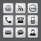 Media and communication button - set icons. Royalty Free Stock Image