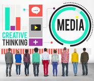 Media Communication Connect Creative Thinking Concept Stock Images