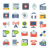 Media and Communication Flat icons Stock Photos