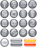 Media and communication icon set (Vector) Royalty Free Stock Photos