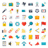 Media and Communication icons Royalty Free Stock Photography