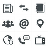 Media and communication icons Stock Photography