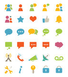 Media And Communication Icons Stock Image