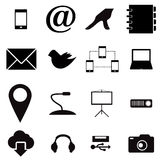Media and communication icons Royalty Free Stock Photo