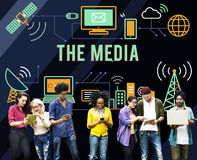The Media Communication Multimedia Radio Concept Stock Images