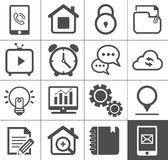 Media and communication outline icon set Royalty Free Stock Photo