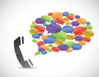 Media communication phone concept Royalty Free Stock Photo