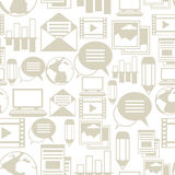 Media and communication seamless pattern with blog Stock Photography