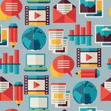 Media and communication seamless pattern with blog Royalty Free Stock Photography