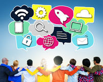 Media Communication Technology Latest Modern Concept Royalty Free Stock Image
