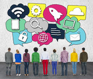 Media Communication Technology Latest Modern Concept Stock Image