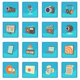 Media communications icon blue app. For any design vector illustration Stock Photo