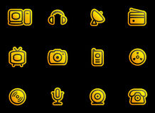 Media & Communications  - Vector Icon Set Royalty Free Stock Photos
