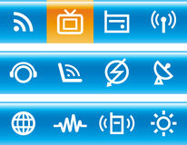 Media & Communications  - Vector Icons Set Stock Images