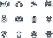 Media & Communications  - Vector Icons set Royalty Free Stock Images