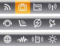 Media & Communications  - Vector Icons Set Royalty Free Stock Photography
