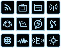 Media & Communications  - Vector Icons Set Stock Image