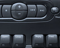 Media computer keyboard Royalty Free Stock Photo