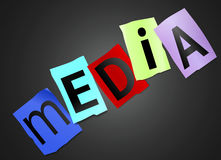 Media concept. Stock Photos