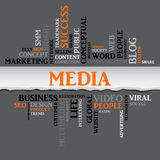 Media concept related words. Vector Stock Image