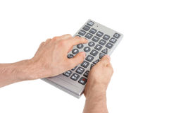 Media conceptual image - Unusual large remote control Stock Photography