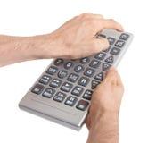 Media conceptual image - Unusual large remote control Stock Photos